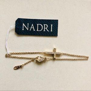 NADRI 💛 Gold Cross ✝️ CZ Bracelet Brand New NWT